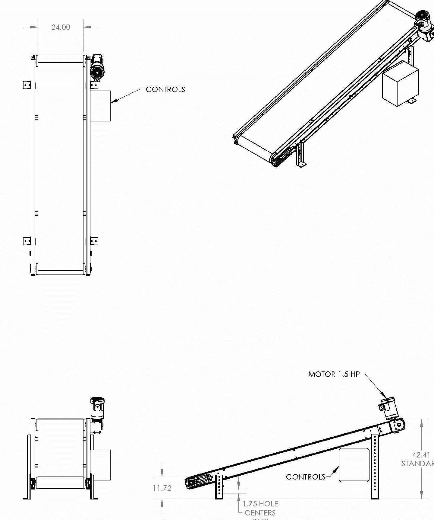 JEM International INC10 Incline Transfer Conveyor